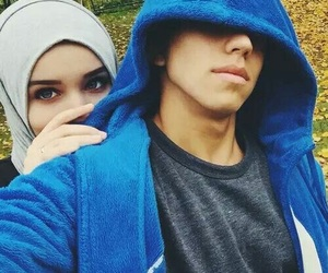 couple, hijab, and hlel image