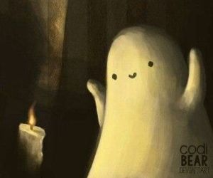 adorable, creepy cute, and ghost image