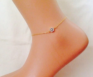 etsy, anklet, and gold anklet image