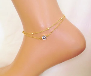 beach, cheap, and gold anklet image