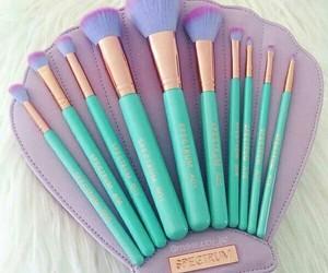makeup, Brushes, and mermaid image