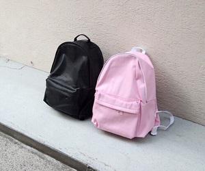 pink, black, and bag image