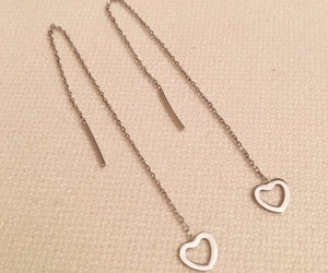 etsy, jewelry, and heart earrings image