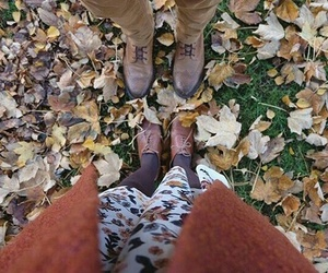 couple, fall, and indie image