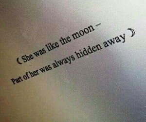 english, moon, and quote image