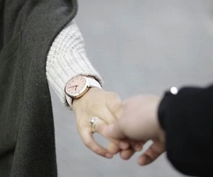 couple, lovers, and hands image