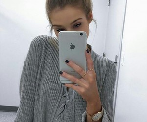 apple, girl, and style image