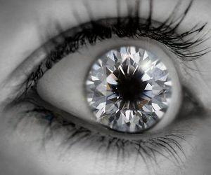 eyes, diamond, and eye image
