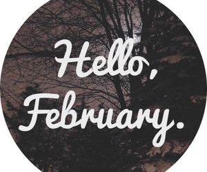 february, hello, and winter image