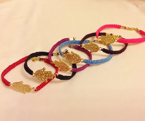 blue, handmade, and macramé bracelet image
