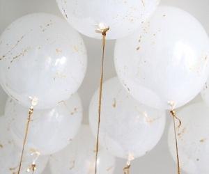 balloons, black balloons, and white balloons image