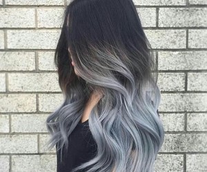 hair, grey, and style image
