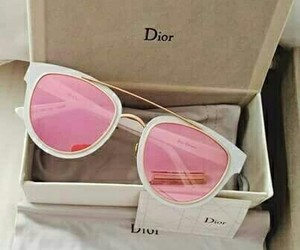 dior, pink, and sunglasses image