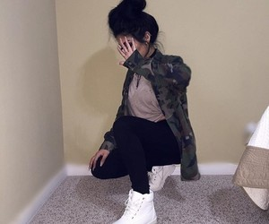 girl, tumblr, and outfit image