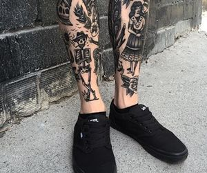 tattoo, black, and vans image