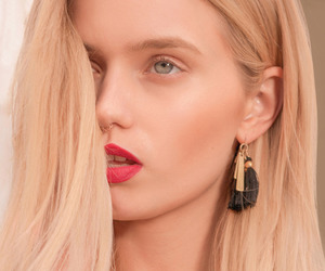 abbey lee, blond, and blonde hair image