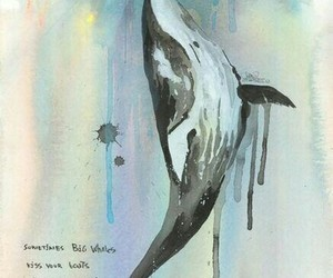 whale, art, and boat image