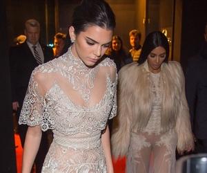 kim kardashian, kendall jenner, and fashion image
