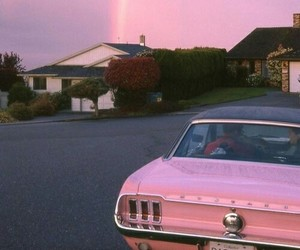 car, nice, and pink image