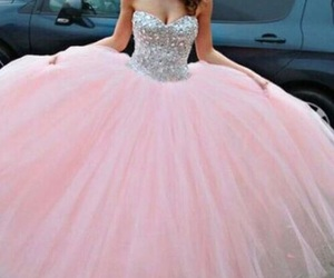 pink, dress, and princess image