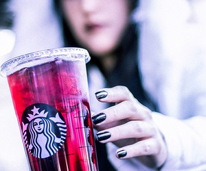 drink, girl, and hibiscus image