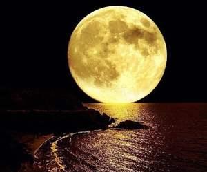moon and sea image