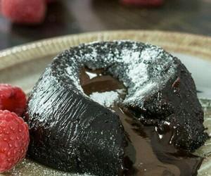cake, chocolate, and suffle image
