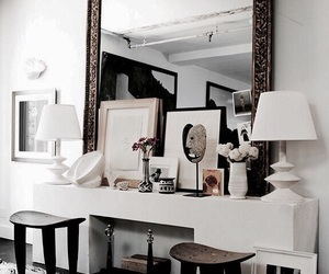 interior, mirror, and design image