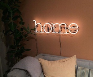 home, light, and neon image