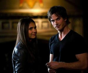 Nina Dobrev, the vampire diaries, and ian somerhalder image
