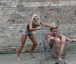 blonde, funny, and girls image