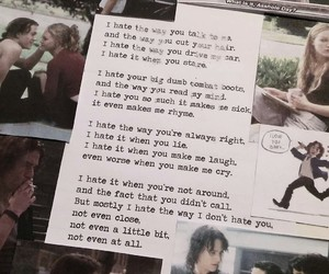 10 things i hate about you, poem, and love image