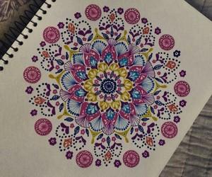 art, mandala, and staedtler image