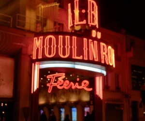 france, neon, and moulinrouge image