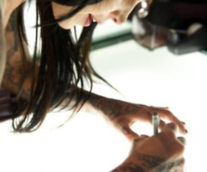 kat von d, tattoo, and girl image