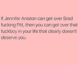 brad pitt, couples, and Jennifer Aniston image