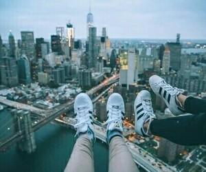 adidas, city, and new york image
