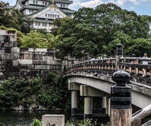 japan, osaka, and castle image