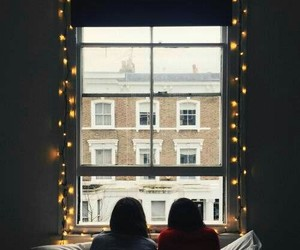 friends, light, and window image