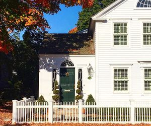 new england, colonial homes, and new england in fall image