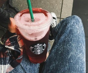 fashion, girls, and starbucks image
