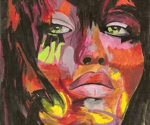 artwork, colorful, and face image
