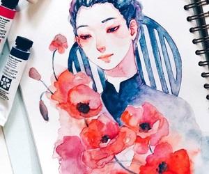 art, manga, and yuri on ice image