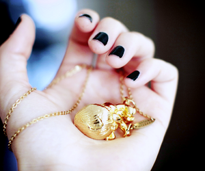 black nails and neckless image