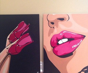 art, canvas, and face image