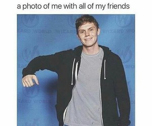 evan peters, american horror story, and funny image