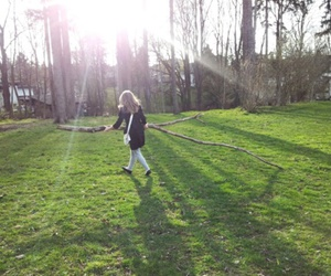 branch, green, and girl image