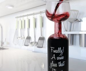 wine, glass, and cool image