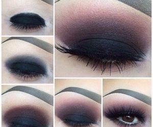 eyeshadow, make up, and pink lips image