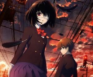 anime, misaki mei, and another image